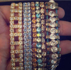 Lot of 6 rhinestone bracelet for Sale in Rockville, MD