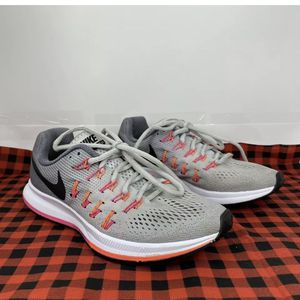 Nike Air Zoom Pegasus 33 Women's Running Training Shoes Platinum/Pink 831356 006 for Sale in Peoria, IL