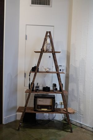 Wood pyramid shelf for Sale in Los Angeles, CA