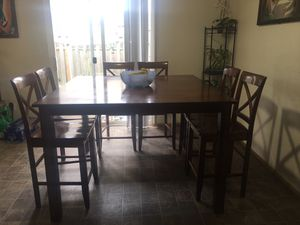 Dining Wood Set Kitchen Table for Sale in Marysville, WA
