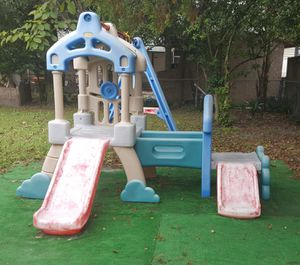 Huge Little Tikes Boat Play house Swing set Slides for Sale in Clearwater, FL