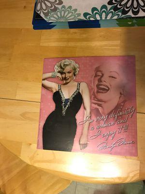 Marilyn Monroe metal sign 1 foot by 1 foot for Sale in Turlock, CA