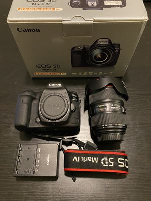 Canon EOS 5D Mark IV DSLR Camera with 24-105mm f/4L II Lens for Sale in Miramar, FL