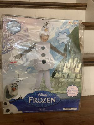 Frozen Olaf costume size small kids for Sale in Union, NJ
