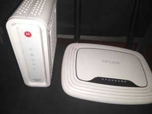 Motorola router and moden for Sale in Falls Church, VA