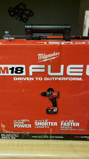 Milwaukee M18 half inch hammer drill driver kit for Sale in Lompoc, CA