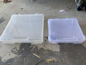 Stackable IRIS branded Containers and More storage plastic bins! 13x13x3 large 10x10x3 small for Sale in Hillsborough, CA