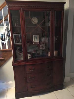 Antique mahogany china cabinet for Sale in Naperville, IL