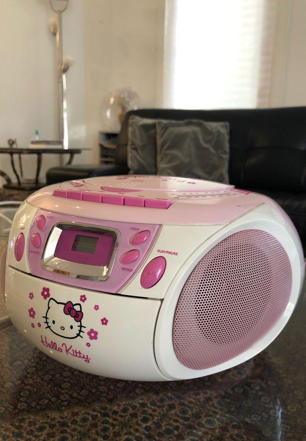 Pink Radio & CD Player (Hello Kitty)