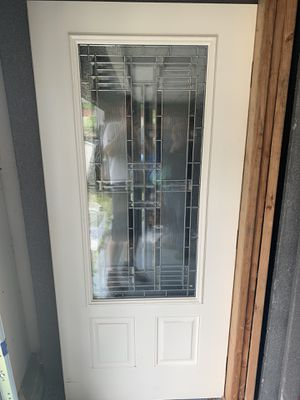 Custom ThermaTru 2/3 Lite Decorative Glass Exterior Door for Sale in NO HUNTINGDON, PA