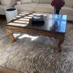 Coffee Table - Wood And Marble for Sale in Longwood,  FL