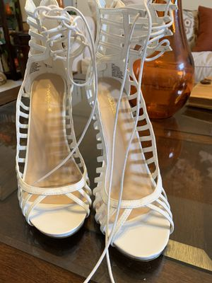White heeled sandals for Sale in McDonough, GA