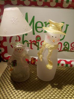 Glass imported snowmen for Sale in Dearborn, MI