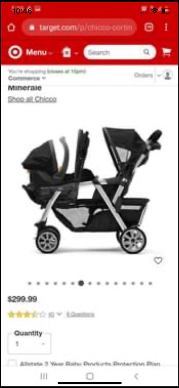 Double Stroller Chicco Brand