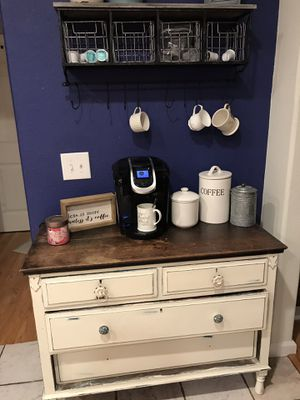 Dresser shelf cabinet coffee bar for Sale in Houston, TX