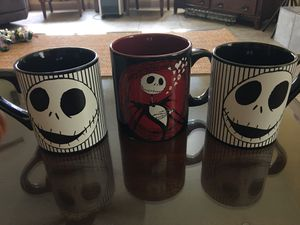 Nightmare Before Christmas mugs. 3 for $10 for Sale in Bakersfield, CA