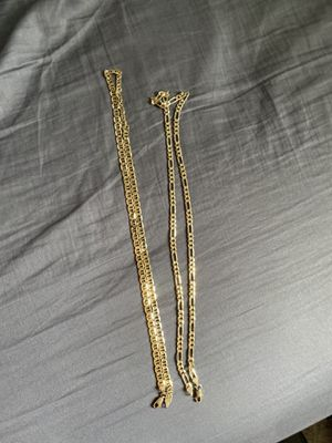 14k gold plated chains for Sale in Salem, OR