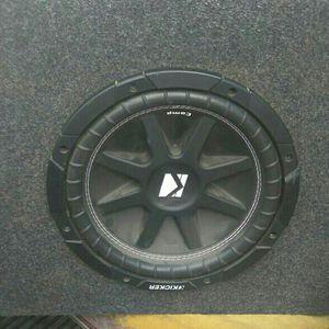 10 In SubWoofer Kicker And kenwood kac-7203 amplifier for Sale in Goodyear, AZ