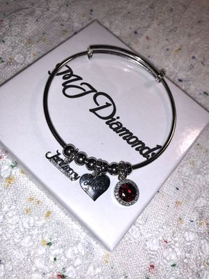Fashionable Aquarius Birthstone Garnet Bracelet. Gift Included. Zodiac Sign Gift for Sale in Dearborn, MI