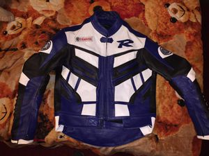 Yamaha motorcycle leather jacket size L for Sale in San Diego, CA