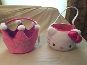 Princess/ hello kitty Easter basket for Sale in Cape Coral, FL