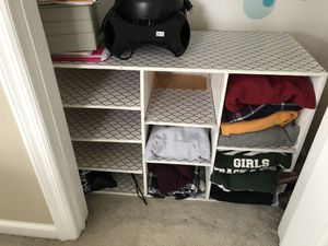 Storage shelves white for Sale in New Milford, CT