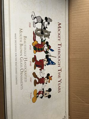 Mickey Mouse x-mas glass ornaments (collectible) more than 20 yrs old for Sale in Englishtown, NJ