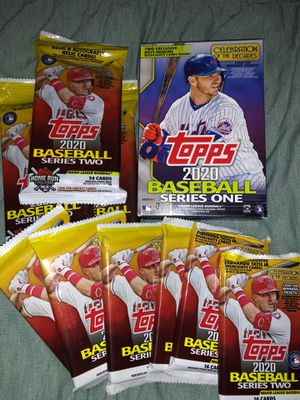 Topps 2020 Baseball Series 1 Hanger/ Series 2 Fat Packs, Cellos for Sale in Canoga Park, CA