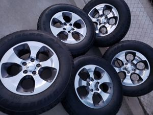 "JEEP WHEELS 18""INCH WITH TIRES 95% TREAD for Sale in Ontario, CA"