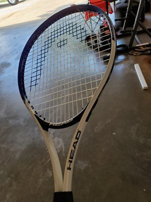 Black White and Blue HEAD Tennis Racket for Sale in Texarkana, TX