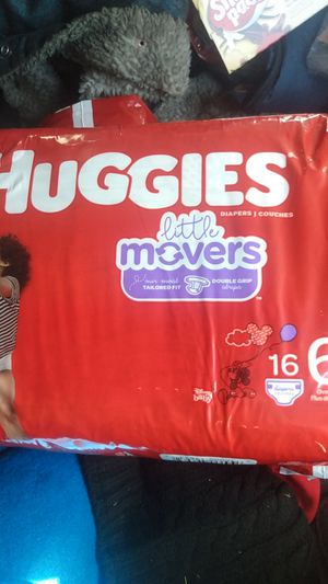 Huggies little movers size 6... 3 packs for $20 for Sale in Tacoma, WA
