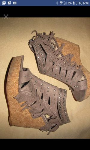 Suede Fringe Wedges for Sale in Swanton, OH