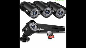 surveillance cameras with 1tb memory brand new never used for Sale in Joliet, IL