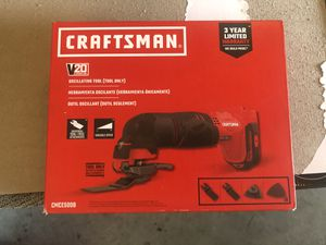 CRAFTSMAN V20 12-Piece Cordless-Amp 20-Volt Max Variable Speed Oscillating Multi-Tool Kit for Sale in Fresno, CA