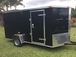2019 Brand New 6' x 14' Enclosed Trailer with Reinforced Ramp Door for Sale in Coconut Creek, FL