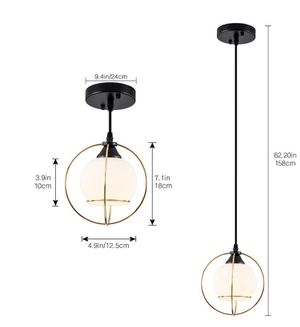 Cross Glod Metal Wire Pendant Light for Sale in Monterey Park, CA