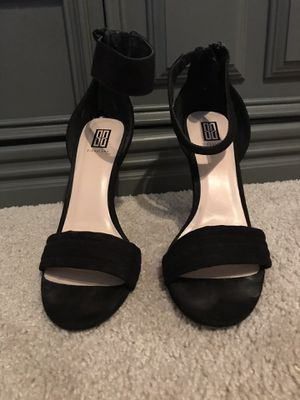 Black Ankle Strap Heels-9 for Sale in Dallas, TX