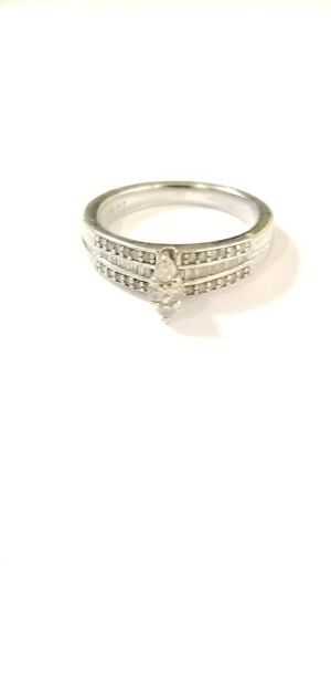 .925 Silver ring with Diamonds. for Sale in Philadelphia, PA
