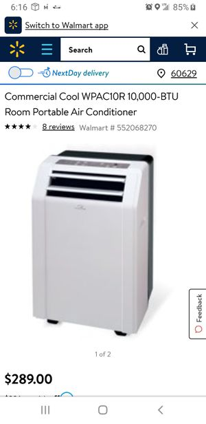 Commercial Cool WPAC10R 10,000-BTU Room Portable Air Conditioner for Sale in Henderson, NV