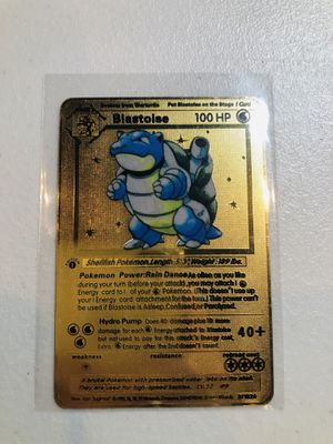 BLASTOISE POKEMON METAL CARD for Sale in Anaheim, CA