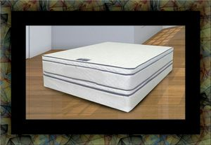 Queen mattress double pillowtop with box spring for Sale in Chevy Chase, DC