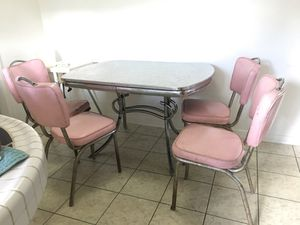 Mid century dining room table and chairs for Sale in Westminster, CA