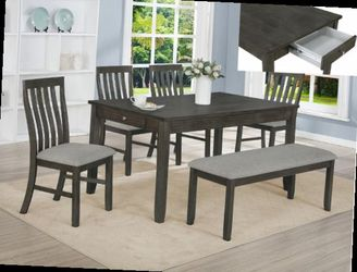 6 Pcs Dining Table Brand New Price Firm for Sale in Ontario,  CA