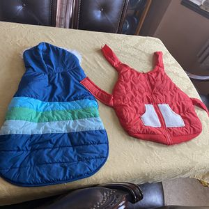 2 Dog Vest Blue It's XL And The Red It's Large Both For 25 New for Sale in Bloomington, CA