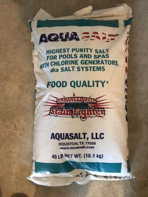Aqua salt for salt water pools for Sale in Galena, OH