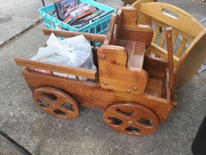 Wooden wagon magazine holder for Sale in Clermont, FL