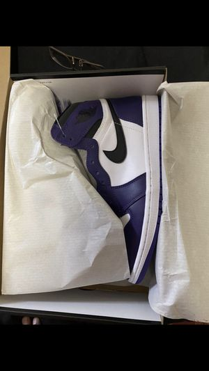 Court Purple Jordan 1s Size 9 for Sale in New York, NY