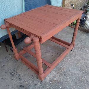 Red Rolling Wooden Table for Sale in Pineville, LA