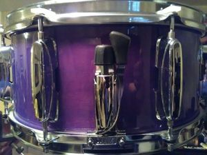 """TAMA ROCKSTAR snare drum 14"""" x 6.5"""" cherry wood burgundy in color for Sale in Clinton, MD"""
