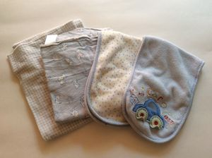 4 Carters baby boy burp cloths for Sale in Los Angeles, CA